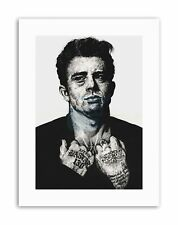 JAMES DEAN TATTOO INKED IKON ICON BY W.MAGUIRE Canvas art Prints