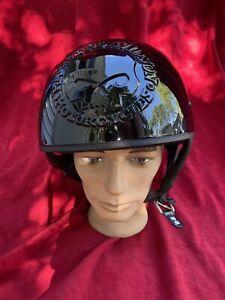Harley-Davidson Willie G Skull Mens Black Half Helmet Biker XL