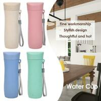 300mL 19cm Wheat Straw Drinking Cup Eco-Friendly Tea Mug Portable Water Bottle