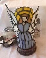 BEAUTIFUL ELECTRIC STAINED GLASS  ANGEL LIGHT NEW