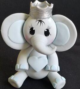 Prince Baby Elephant Boy Royal Baby Shower & Birthday Cake Topper Elephant Boy