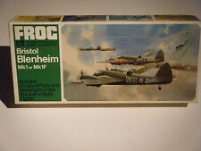 CLASSIC 1968 FROG 1/72sc WW II Bristol BLENHEIM Mk.1/1F Attack Bomber Model Kit
