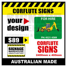 Custom Corflute Sign - Corflute 2400mm x 400mm - by Signage Warehouse