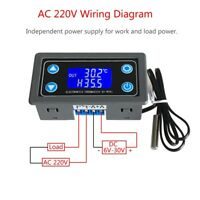 Thermostat Digital Display Temperature Controller Module with NTC10K Sensor