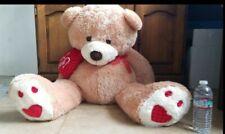 Teddy Bear Giant Big Stuffed Animal Brown Plush Soft Toy Cuddly love you heart