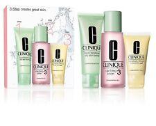 Clinique 3 Step Greasy Skin Set 50ml Facial Soap 100ml Lotion 30ml Moisturizer