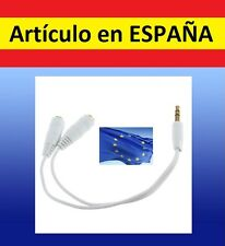 Adaptador DESDOBLADOR cable jack 3.5mm auriculares cascos mp3 mp4 iphone pc ipod