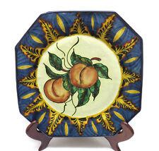 "Hand Painted Talavera Mexican Mexico Folk Art Pottery Plate ~ 10 1/4"""