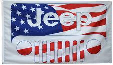 Jeep Flag Grand Cherokee Renegade Compass Wrangler Rubicon Grill USA 3x5ft