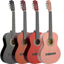 NEW Stagg C542 MADRID Full Size Classical Acoustic Guitar Black Natural Red Pink