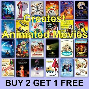 Classic Animated Movie Posters Cartoon Film Poster Films HD Borderless Prints