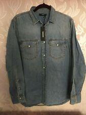RRP £110 DIESEL Denim D-Rooke Shirt Blue Medium Men's Designer Top