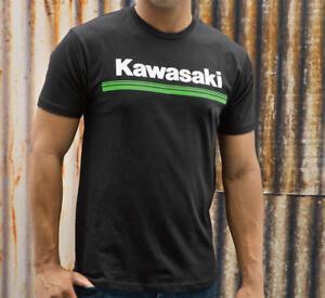 Kawasaki 3 Green Lines Short Sleeve T-Shirt Black