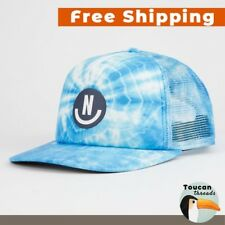 NEFF Smile Blue Tie Dye Washed Hat Mens Adjustable Snapback Trucker Cap