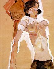 Egon Schiele: Reclining Semi-Nude - Fine Art Canvas Print
