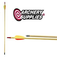 5x Wooden Arrows - Fully Fletched - Ready to Shoot by EK Archery Research