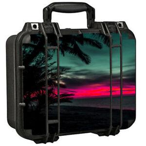Skins Decals for Pelican 1400 Case / Ocean sunset Pink sky