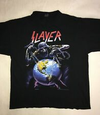 SLAYER 1994 'European Intourvention' Tour Rare Vintage T-Shirt XL