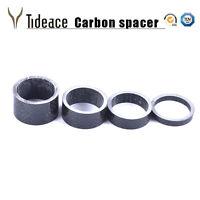 "4Pcs 1 1/8"" 5mm 10mm 15mm 20mm 4 Shape Carbon Fiber Washer Bike Bicycle Headset"