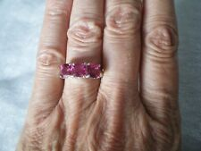 Mystic Pink Topaz ring, 3.66 carats, size N/O, 3.24 grams of 925 Sterling Silver
