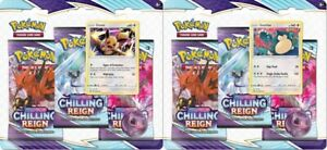 Pokemon Chilling Reign Both 3-Pack Blisters - Eevee & Snorlax SHIPS NOW!!