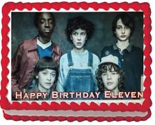 Stranger Things Birthday Party Edible Cake Topper Image frosting icing sheet