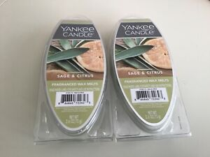Yankee Candle Sage & Citrus Fragranced Wax Melts 2.6oz 6-Pack **Lot of 2**