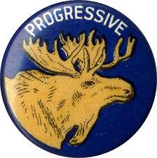 Original 1912 Theodore Roosevelt PROGRESSIVE Bull Moose Campaign Pinback (1805)
