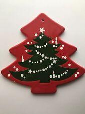 "Waechterbach Cheese Cracker Plate Christmas Tree Pattern Shape 10"" Wall Decor"