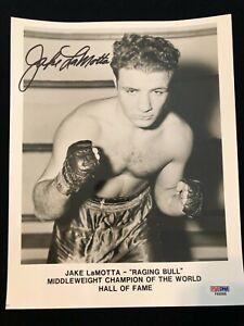 Jake LaMotta Signed Photo - Raging Bull  Middleweight World Champion PSA #F66068
