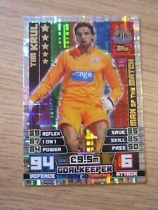 Match Attax 2014/5 MOTM card - Tim Krul of Newcastle United
