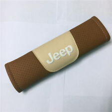 2Pcs Brown High Quality Car Seat Belt Shoulder Cover Pad Fit For Jeep Auto