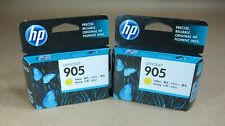 [0784*] TWO HP 905 (T6L97AA) YELLOW INKS ( RRP>$40 )