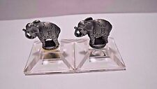 Lot Of 2 Miniature Vintage Russ Berrie & Co. Pewter Center Ring Circus Elephants