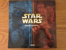 Vintage Star Wars 2002 Calendar Good vs Evil