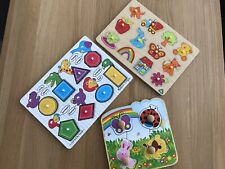 Wooden Puzzles For Toddlers x 3