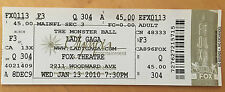 LADY GAGA 2010 The Monster Ball Tour FULL Concert TICKET FOX Theatre DETROIT Pop