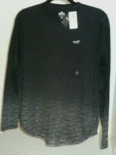 Hollister Men's L/S T-Shirt  Size S Black/Heather Gray NWT Rare
