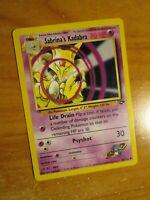 NM (Unlimited) Pokemon SABRINA'S KADABRA Card GYM CHALLENGE 58/132 UNCOMMON
