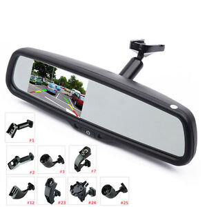 """Car Interior Replacement Rear View Mirror Built in 4.3"""" TFT LCD Monitor+ Bracket"""