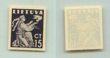 Lithuania 1940 SC 319 MNH imperf color proof . f2687