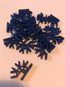 K'Nex - KNex - Spares - Micro KNex 4 Way Connector 3D X20 Blue #509092