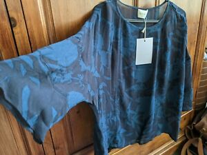 Wrap London Gorgeous Navy Top Size 16 New With Tags RRP £169 Lagenlook