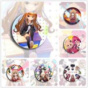 "Toradora! Aisaka Taiga Cute Badges 6 Pieces Pins Schoolbag 2.3"""
