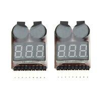 2 Stueck 1-8S Indikator RC Li-Ionen Lipo Batterie Tester Niederspannung Summe z6