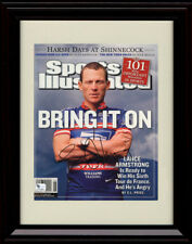 Framed Lance Armstrong Sports Illustrated Autograph Print - Bring it On!