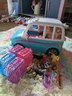 Barbie Ultimate Puppy Mobile Transforming SUV Pet Playset Van Mattel w/ zipline