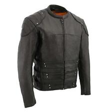 Milwaukee Lether Men's Assault Style Racer Jacket w/ Triple Side Straps *MLM1505