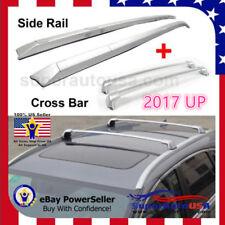 4 Pcs Silver Roof Rail Rack + Cross Bar for HONDA CRV CR-V 2017 2018 Aluminum