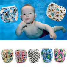 Baby Washable Reusable Cloth Diaper Hook-Loop Pocket Nappy Cover Wrap Swimwear